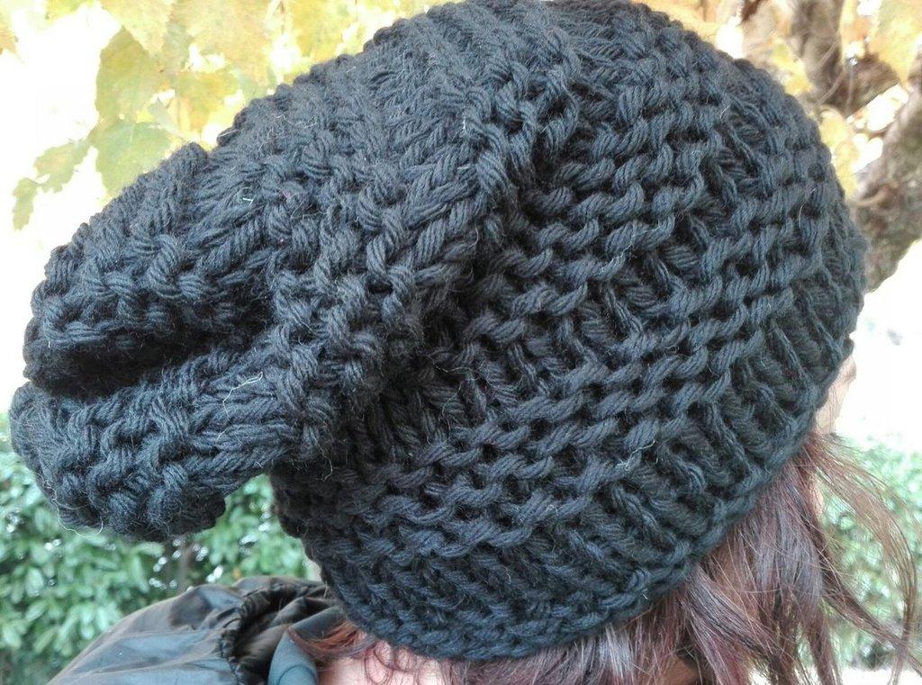 cappello lana lavorato ai ferri