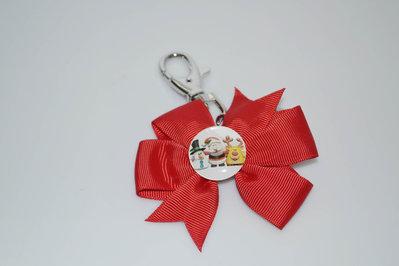 portachiavi in metallo con pendolo ciondolo a forma di fiocco idea regalo natale