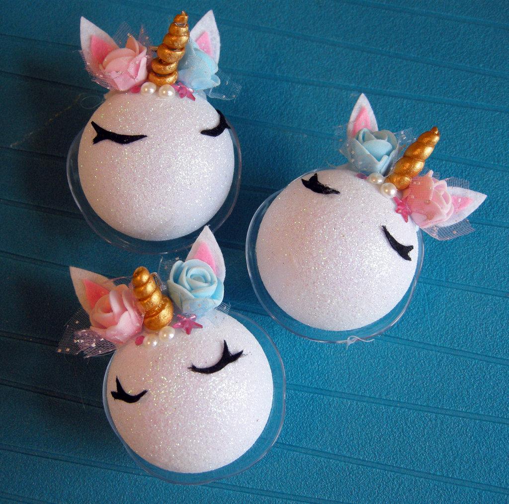 palline di natale unicorno - christmas balls, unicorn