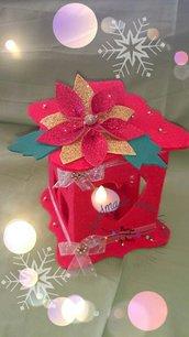 Lanterna natalizia in feltro media