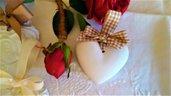 Gessetti profumati cuore segnaposto-bomboniere matrimonio,prima comunione ,battesimo,promessa,nozze,25 anni anniversario