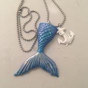 Collana coda di Sirena con ancora