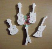 Gessetti artigianali a forma di chitarre acustiche, violino, mandolino Bomboniera Compleanno, Segnaposto Bomboniera