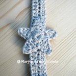 Portaciuccio stella d'argento, cotone, uncinetto, neonato/bambino, idea regalo Natale