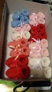 Scarpette per neonato in lana
