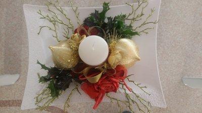 Centro tavola ceramica feste natale di chimart su - Centro tavola di natale ...