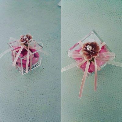 Scatolina plexiglass con confetti