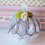 Pallina di Natale in plexiglass da usare come decorazione sull'albero, decorazioni con rose