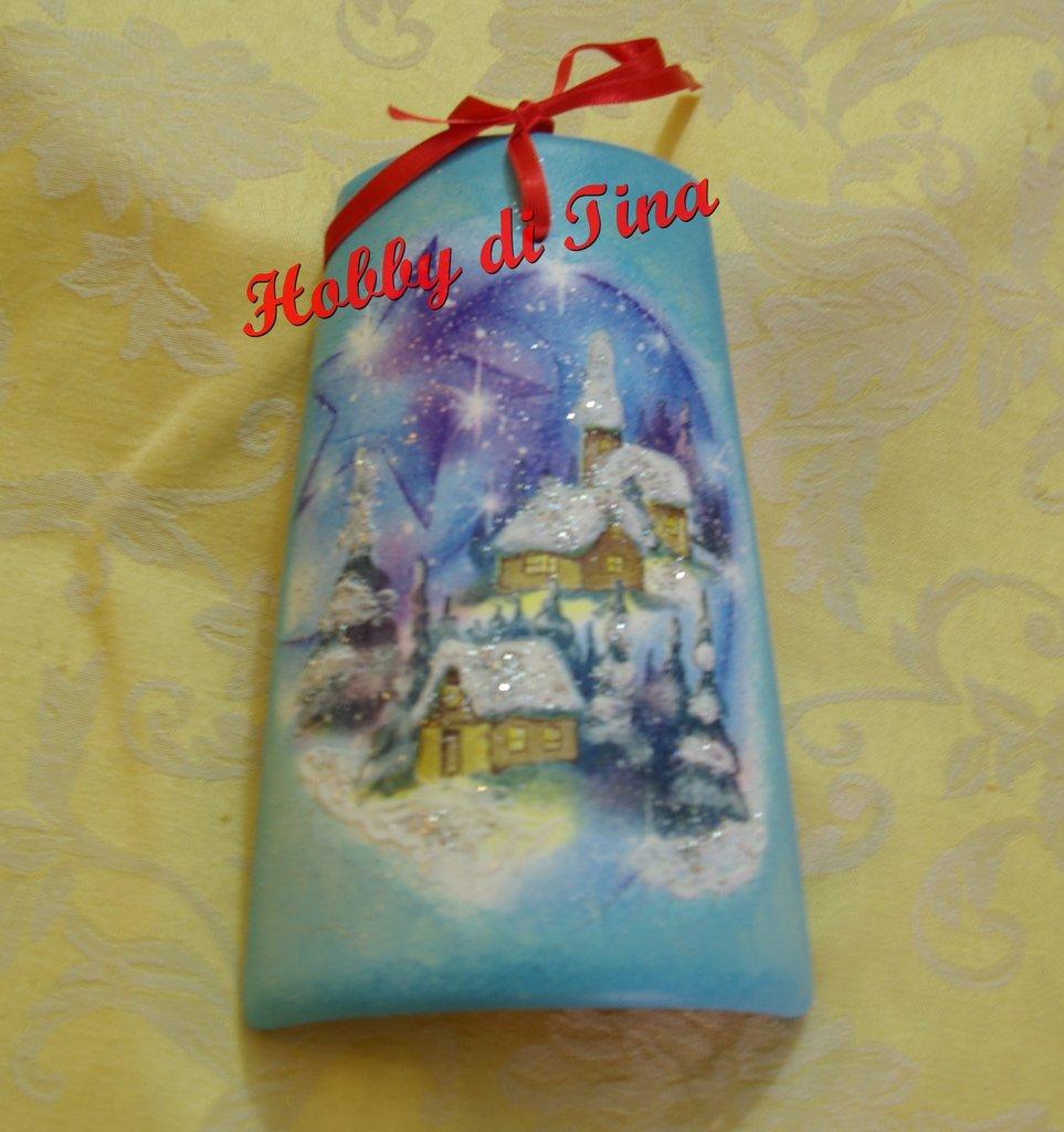 Tegolina natalizia effetto neve