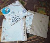 Biglietto di Auguri Quadrato 3 Parti in Argento - Christmas Time! Cardmaking e Scrapbooking^^