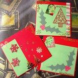 Biglietto di Auguri Quadrato 3 Parti in Rosso - Christmas Time! Cardmaking e Scrapbooking^^