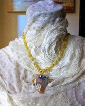 Collana con perle di Agate e ciondolo cuore, fatta a mano, 50 cm