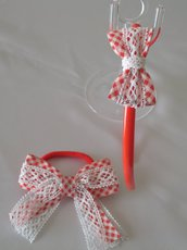 Set accessori per capelli Elastico e Cerchietto con fiocco