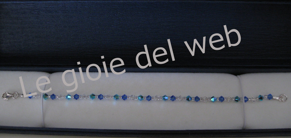 Bracciale Swarovski blu e celeste