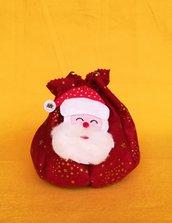 Il sacco di Babbo Natale, da riempire con dolciumi e piccole sorprese! GRATIS UNA STELLA! idea regalo