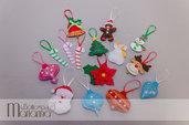 Set di 15 decorazioni natalizie, GRATIS 2 STELLE!