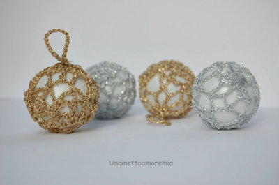 Palline In Oro Ed Argento Per Addobbi Di Natale Tutorial Feste