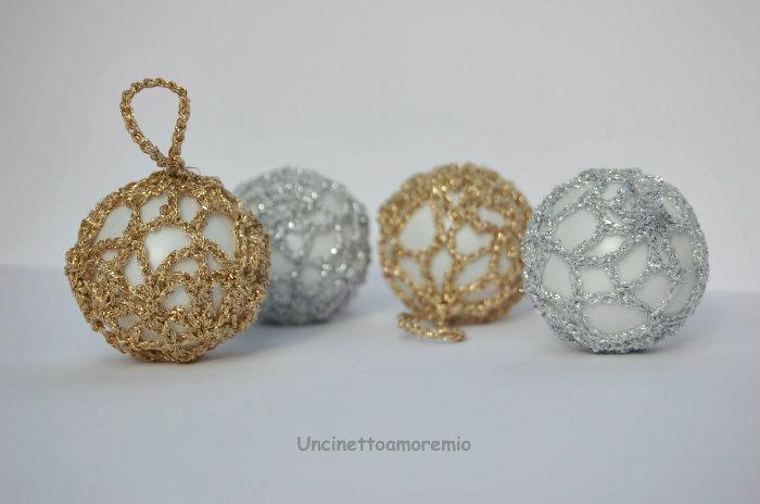 Addobbi Natalizi Uncinetto Tutorial.Palline In Oro Ed Argento Per Addobbi Di Natale Tutorial