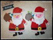 Decorazione Natalizia-Babbo Natale con doni, in feltro o in gomma crepla