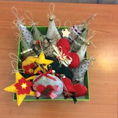 Alberelli stelle e vari soggetti  imbottiti Santo Natale