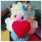 """Bambolina Amigurumi """"Angel con Cuore"""" Crochet Dolls"""