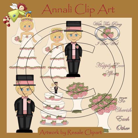 Sposi Biondi - Matrimonio - Clip Art per Decoupage e Scrapbooking - Immagini - Wedding