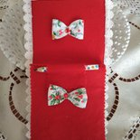 Comodo e originale regalo di natale-block notes  foderato di pannolenci rosso.