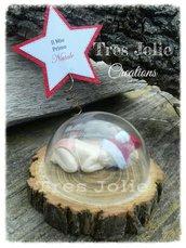 Il mio primo natale bimbo su legno con sfera
