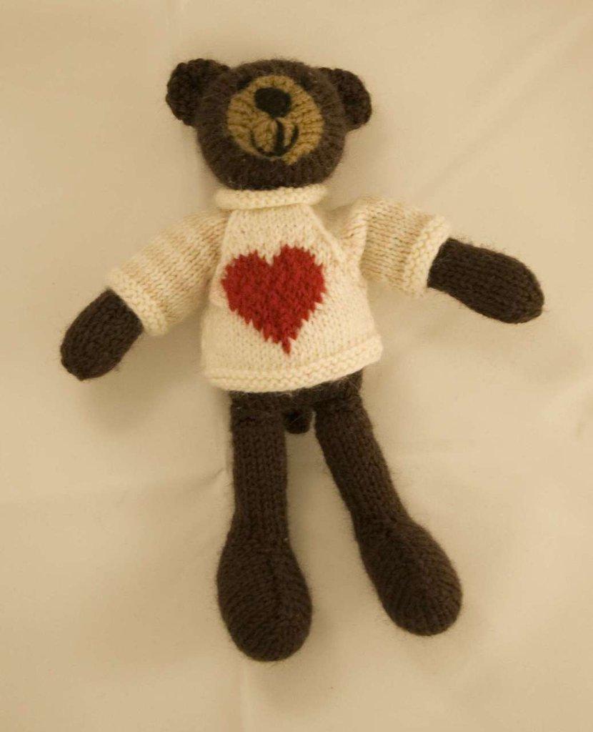 Baloo-Orsetto in lana realizzato a maglia.Imbottitura in kapok.