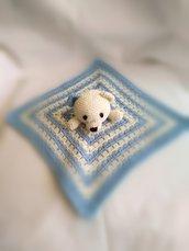 Doudou orsetto in lana