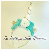 Cerchietto unicorno flowers