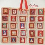 Calendario dell'avvento del Natale country patchwork da appendere in stoffa
