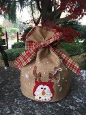 Natale - porta panettone con gufo