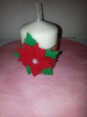 Candele decorate natalizie