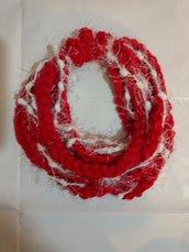 Sciarpetta collana lana bambina regalo di Natale