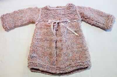 vestitino neonata, baby dress, fatto a mano