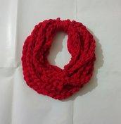 Sciarpetta collana lana bambina Rega di Natale