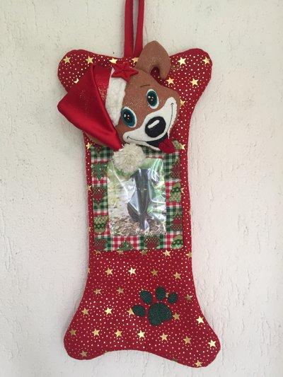 Natale - calza di Natale cagnolino
