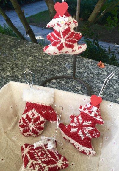 Natale - addobbi per albero di natale in lana - stella - albero