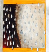 Pioggia Lunare con gocce d'argento,Dipinto