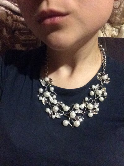 Collana fiori di perle