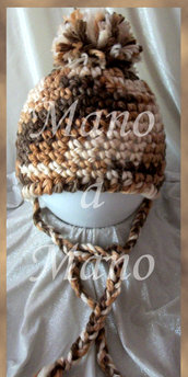 Cappello aviatore bambino - Marrone Melange