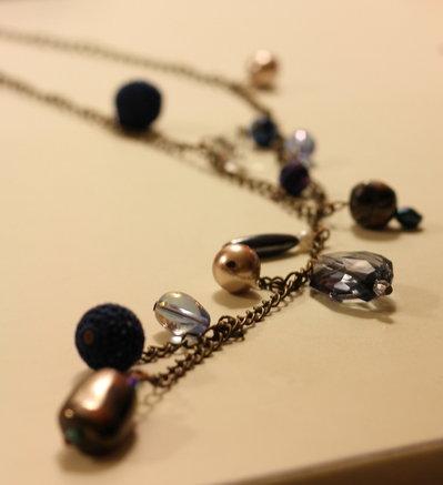 Collana, tonalità del blu