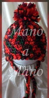 Cappello aviatore bambino - rosso melange
