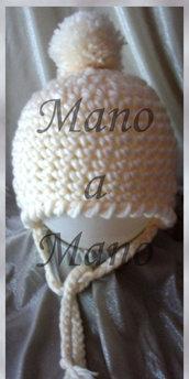 Cappello aviatore bambino - Bianco panna