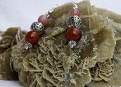 Orecchini con perle di vetro e filigrana   art 1