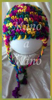 Cappello aviatore bambina - multicolor