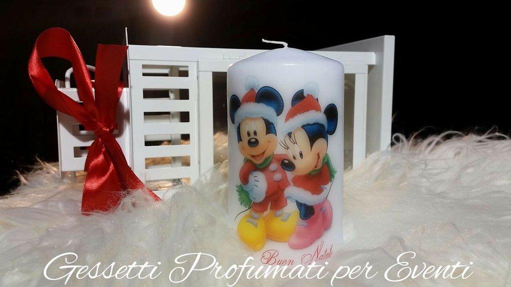 Candela personalizzata Natale