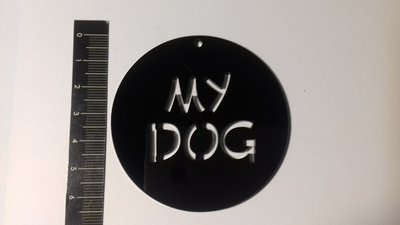 (441) My dog - ciondolo in plexiglass nero