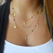 Collana multifilo oro